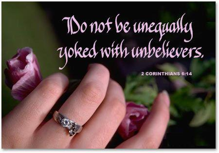 Unequally yolked with unbelievers