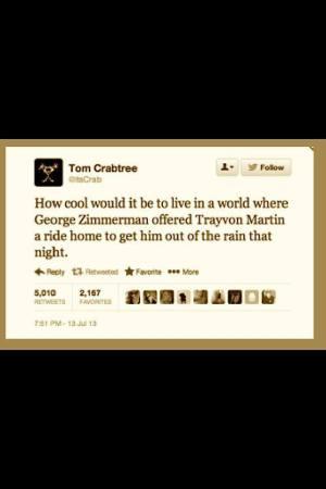 Twitter about Trayvon