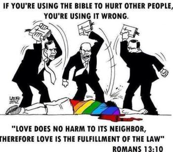 Using the bible in an evil way image