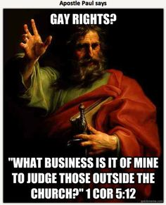 Paul on gay rights